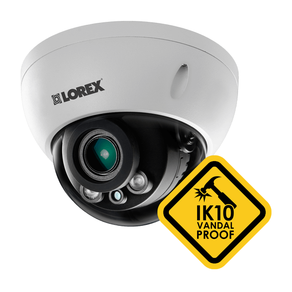 IK10 vandal-proof IP security camera