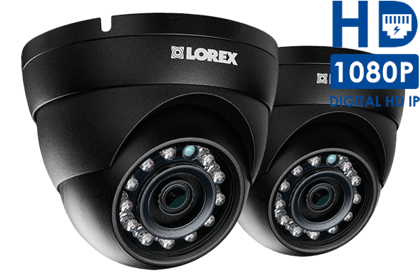 HD IP dome security camera with color night vision (2-pack)