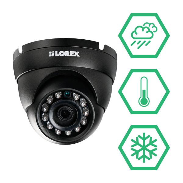 weatherproof and vandal resistant IP security cameras for year-round protection