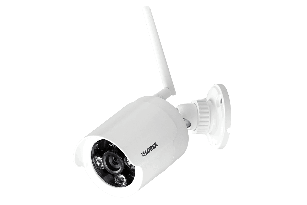Wireless security camera with night vision white