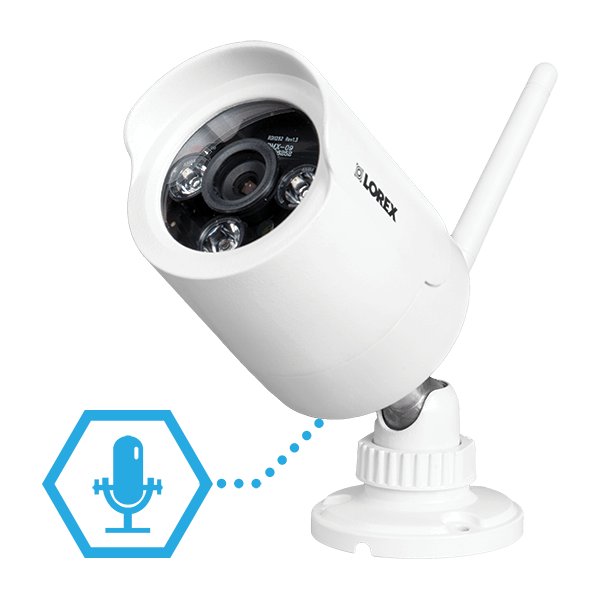 Listen-in audio with Lorex LW2287B wireless security camera