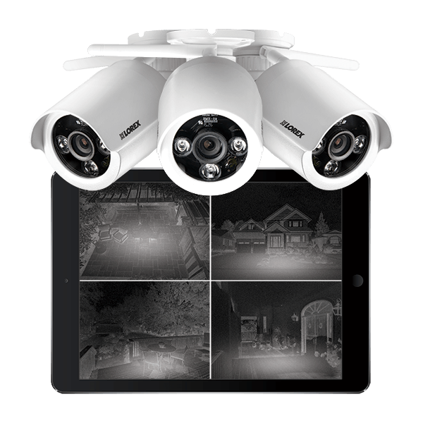 LW2287B wireless bullet security cameras with night vision