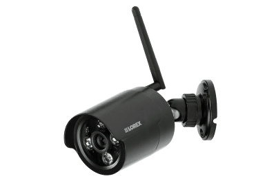 Wireless security camera with night vision (black)