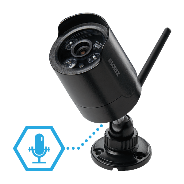 wireless security camera audio alerts