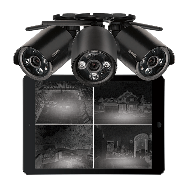 HD night vision bullet analog security cameras