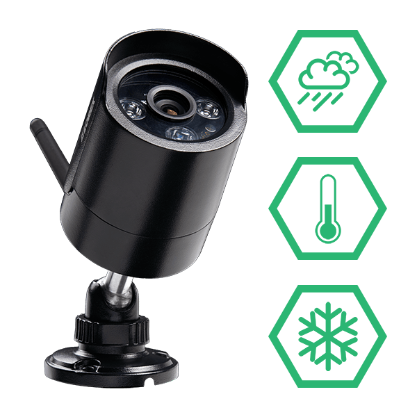 wireless security cameras with IP66 weatherproof ratings