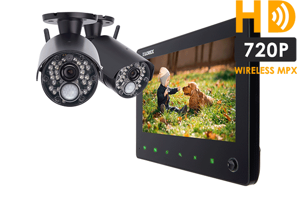 HD 720p home security system with 7 inch monitor