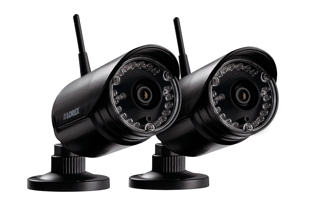 HD 720p wireless security cameras 2 pack