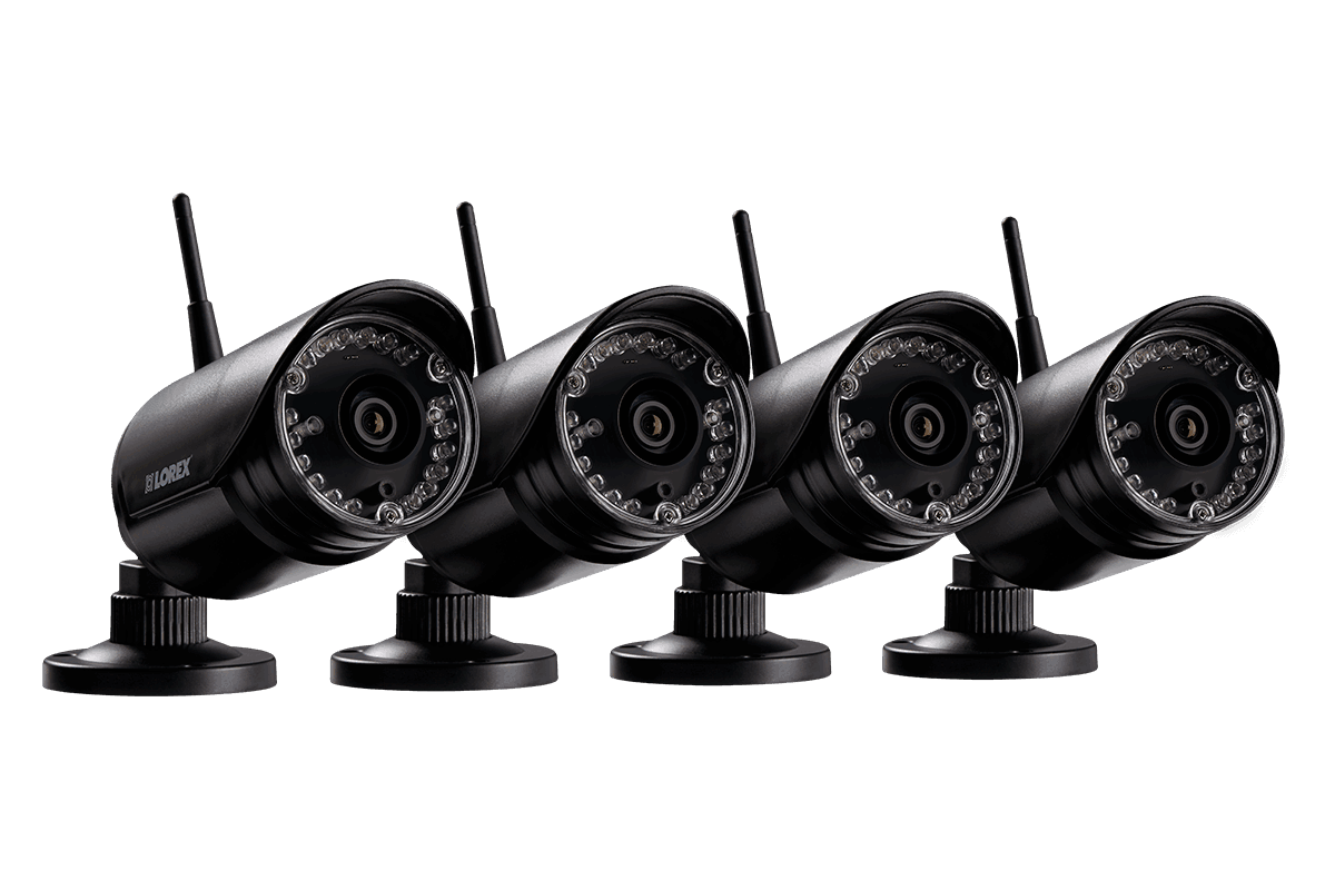 HD 720p wireless security cameras 4 pack