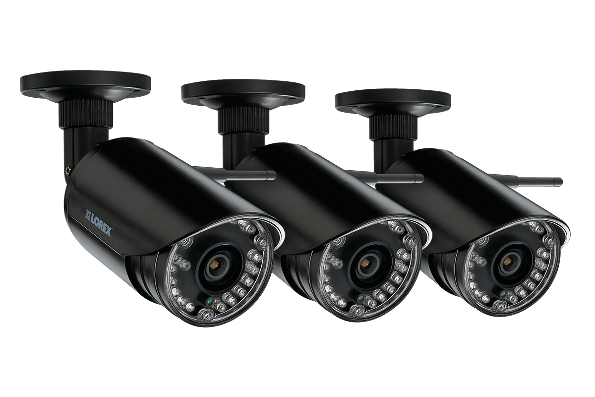 HD 720p wireless security cameras 3 pack