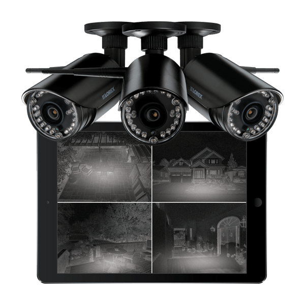 LW2297B wireless night vision bullet security cameras