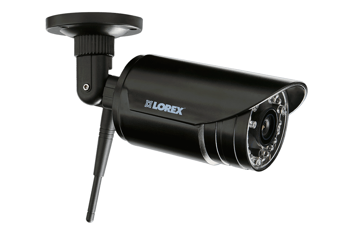 4-camera surveillance system with HD 1080p wired and VGA wireless cameras