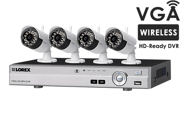 4 channel system with 2 wireless security cameras lorex wireless home security system with 4 cameras solutioingenieria Choice Image