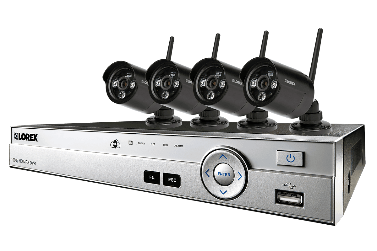 Wireless home security system featuring 4 outdoor security cameras