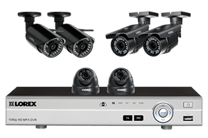 Flexible security system with HD 1080p cameras, and 2 wireless HD 720p cameras