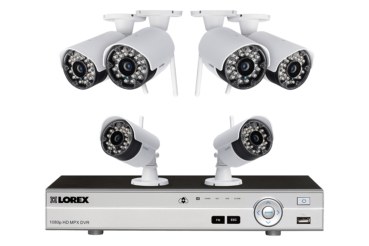 Wireless Camera System with 6 Cameras and 8 Channel DVR