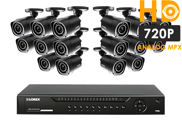 HD 720p security system featuring 16 high definition cameras