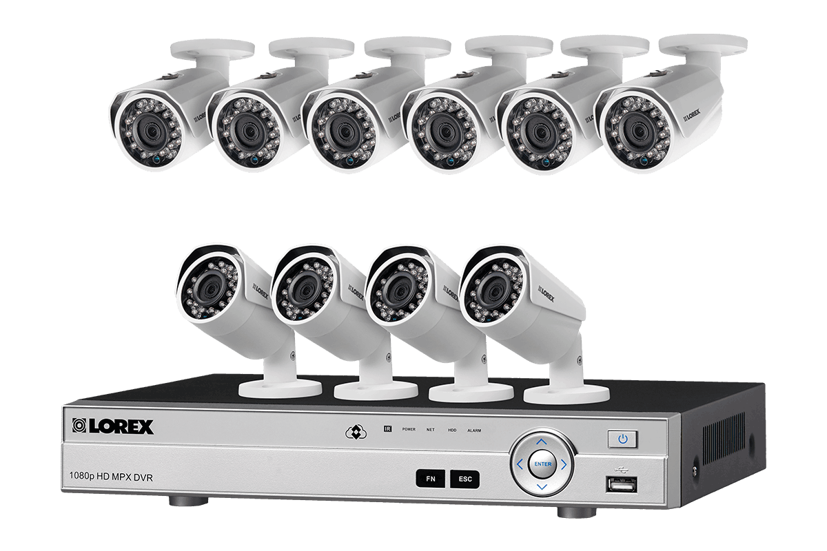 10 Camera 1080p HD Home Surveillance System with DVR