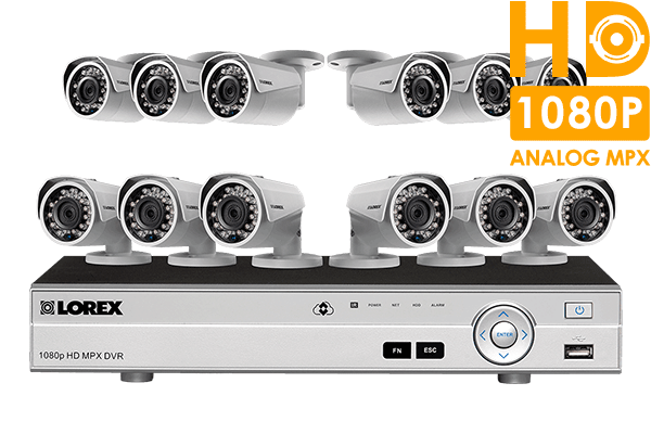 HD surveillance camera system with 12 HD cameras