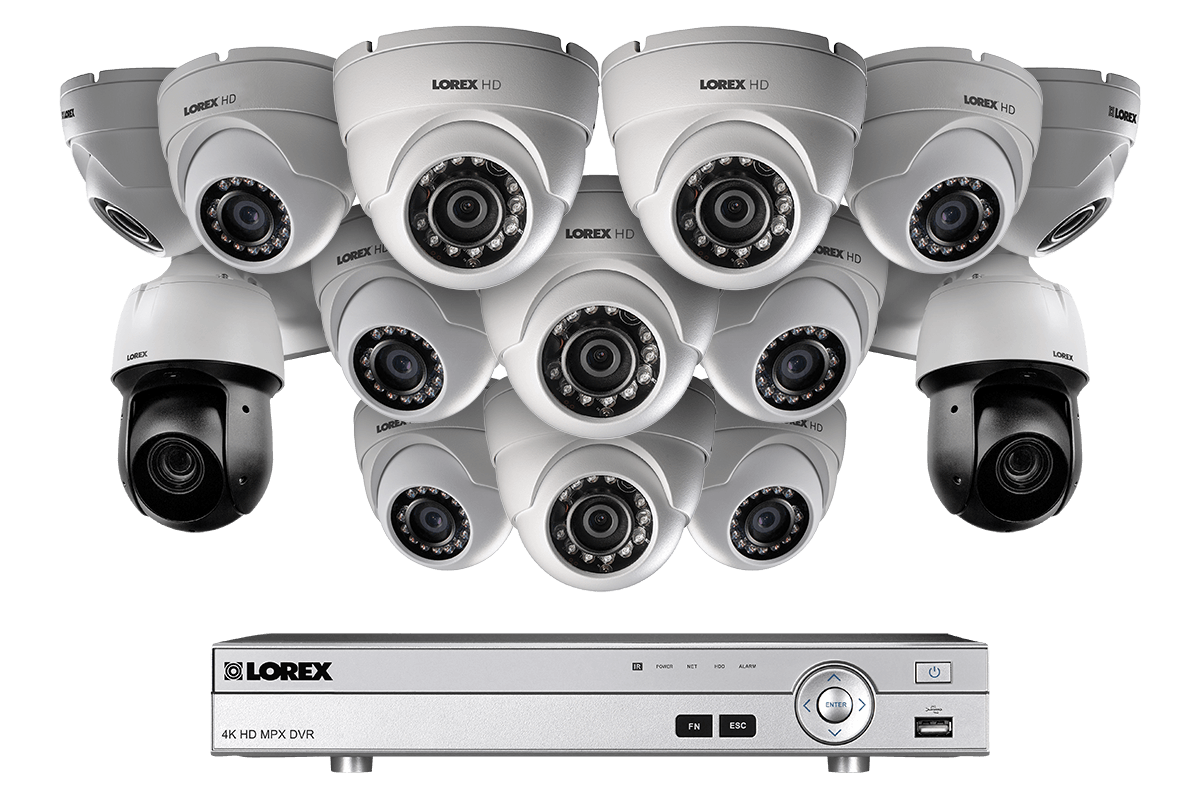 Powerful 1080p HD Home Security System with 2 PTZ Cameras | Lorex