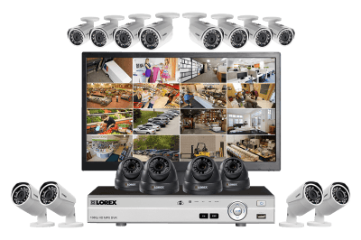 Complete 1080p HD 16 Camera Security System with Domes and Monitor
