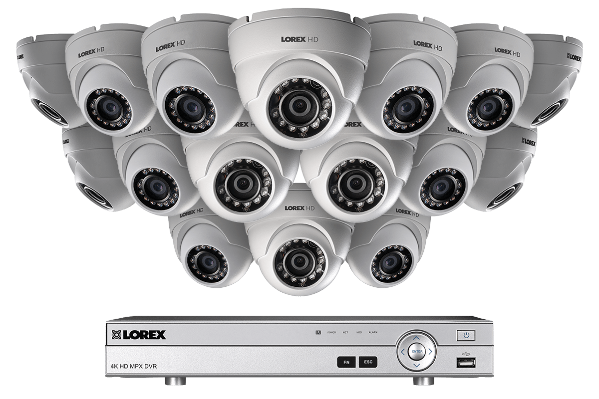 9 camera HD home security system featuring 4 ultra-wide angle ...