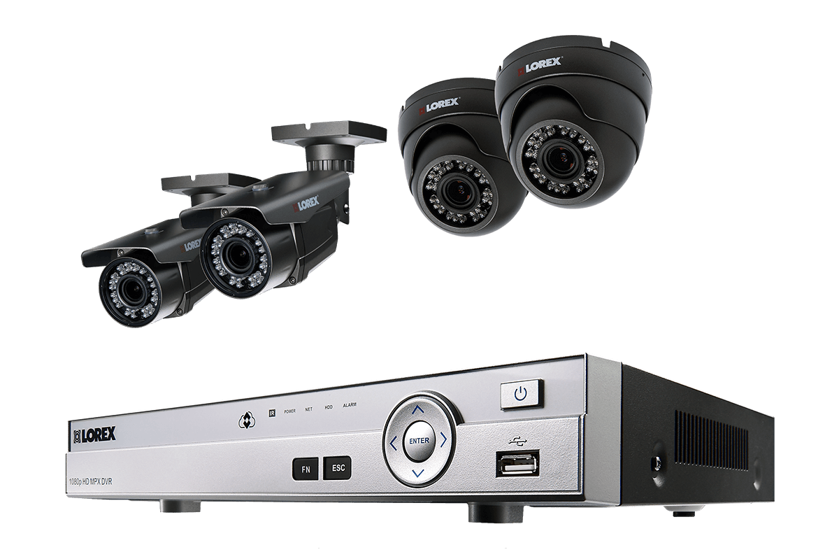 1080p HD Security System with Bullet and Varifocal Dome Cameras