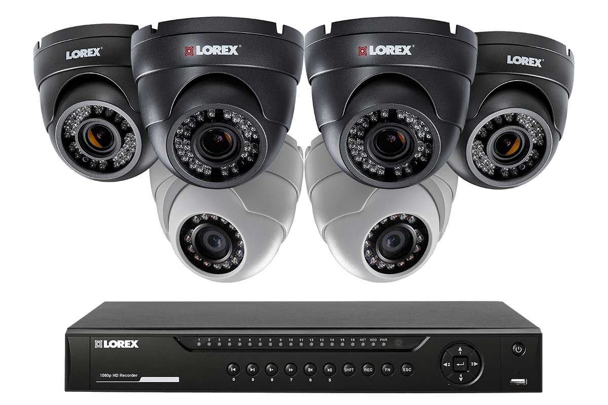 HD 1080p home security system with 6 dome cameras 4 with varifocal lenses