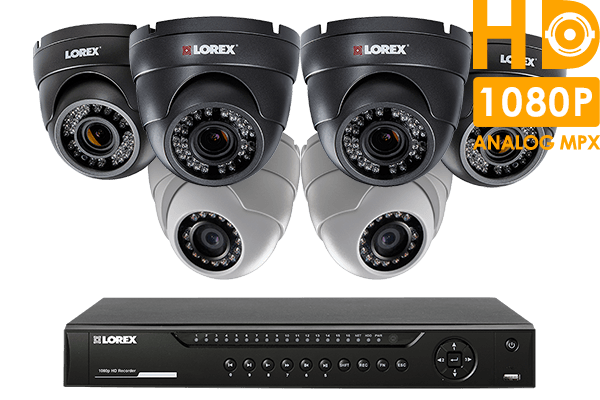 HD 1080p home security system with 6 dome cameras (4 with varifocal lenses)