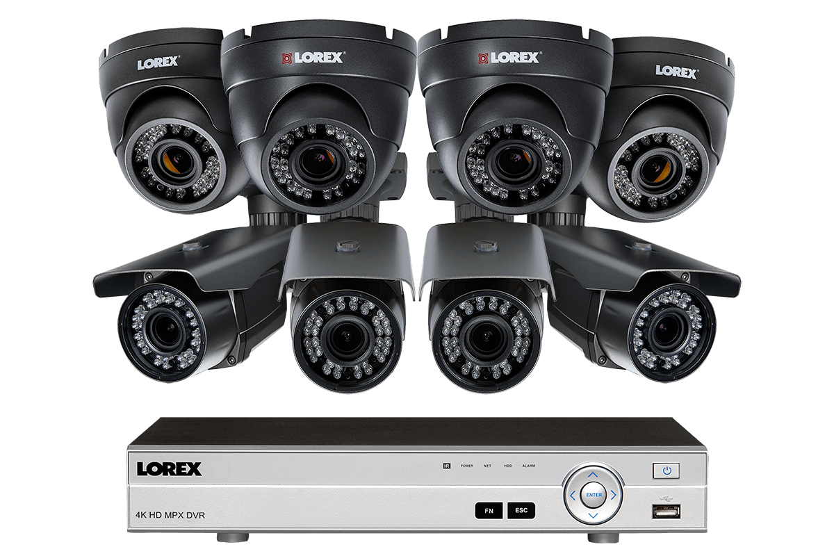 1080p HD home security system with 8 motorized varifocal security cameras