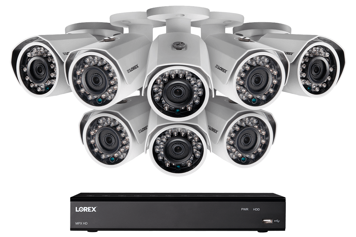 Home security system with 8 cameras (HD 1080p)