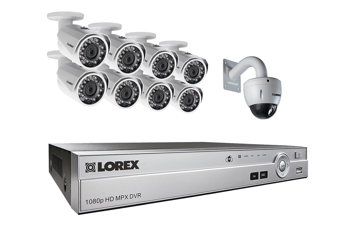 Powerful 1080p HD home security system with 720p PTZ camera