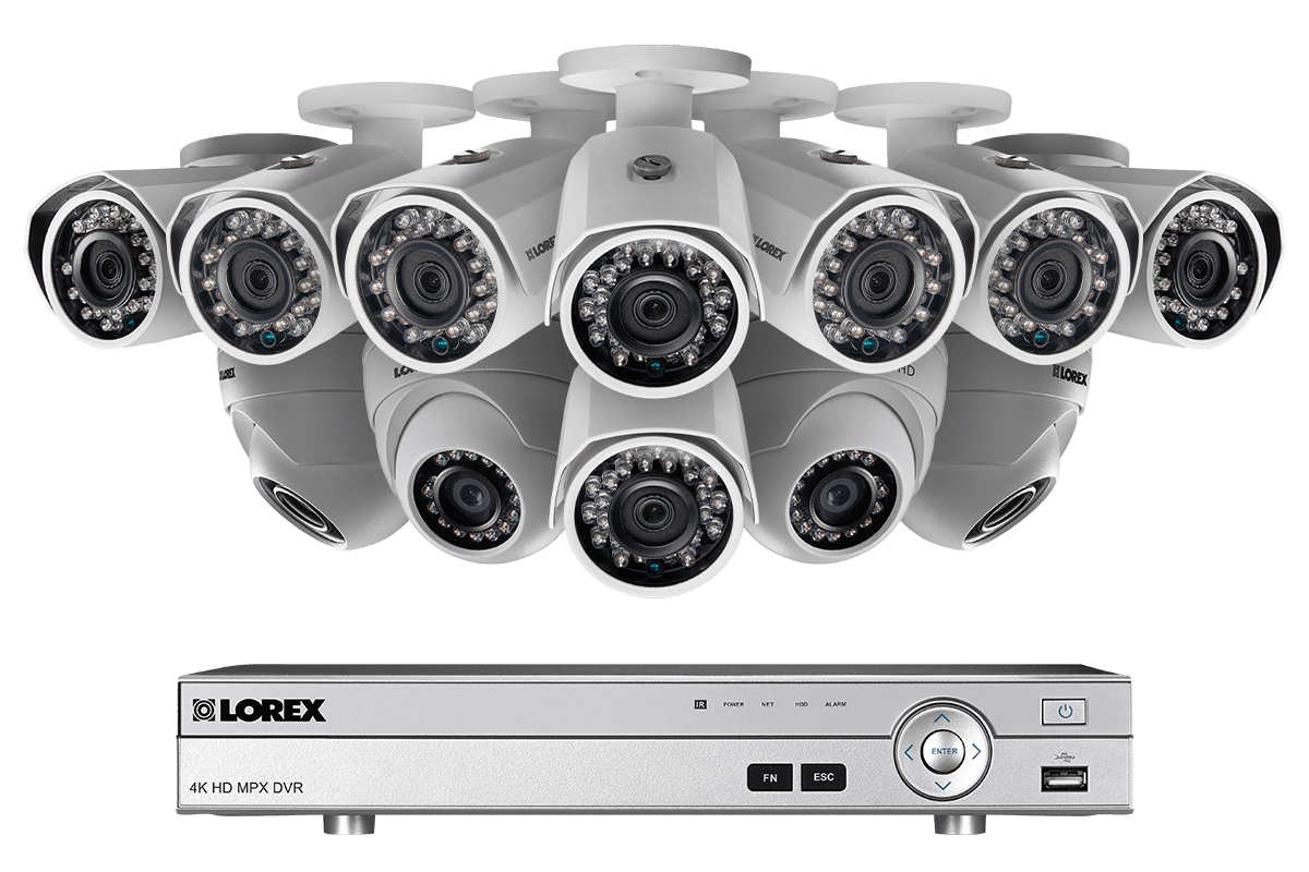 16 Channel 1080p HD Security Camera System with 12 1080p Metal Outdoor  Cameras, 150FT Night Vision