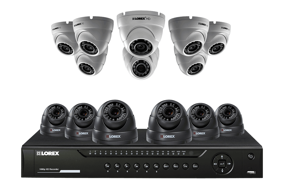 Heavy duty 14 camera HD 1080p security system (including 8 varifocal lenses)