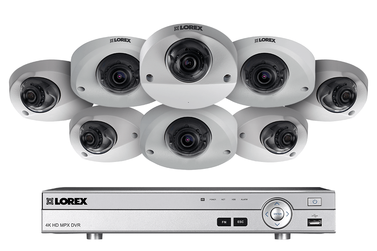 1080p HD Surveillance DVR system with 8 audio enabled cameras 90ft night vision