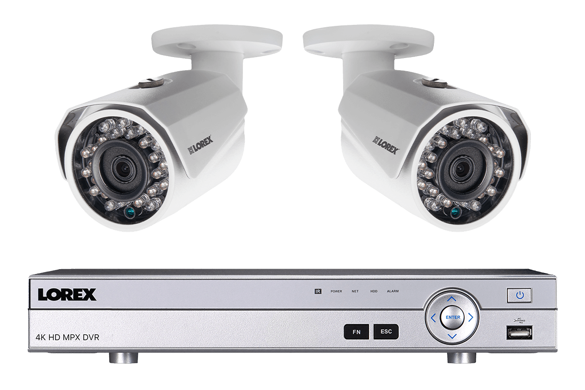 Home security system with 2 HD 1080p security cameras featuring ...