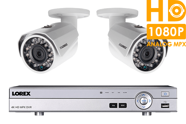 Surveillance camera system with 2 HD 1080p cameras