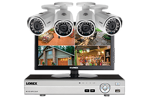 1080p HD Complete 4 Camera Home Security System with Monitor | Lorex