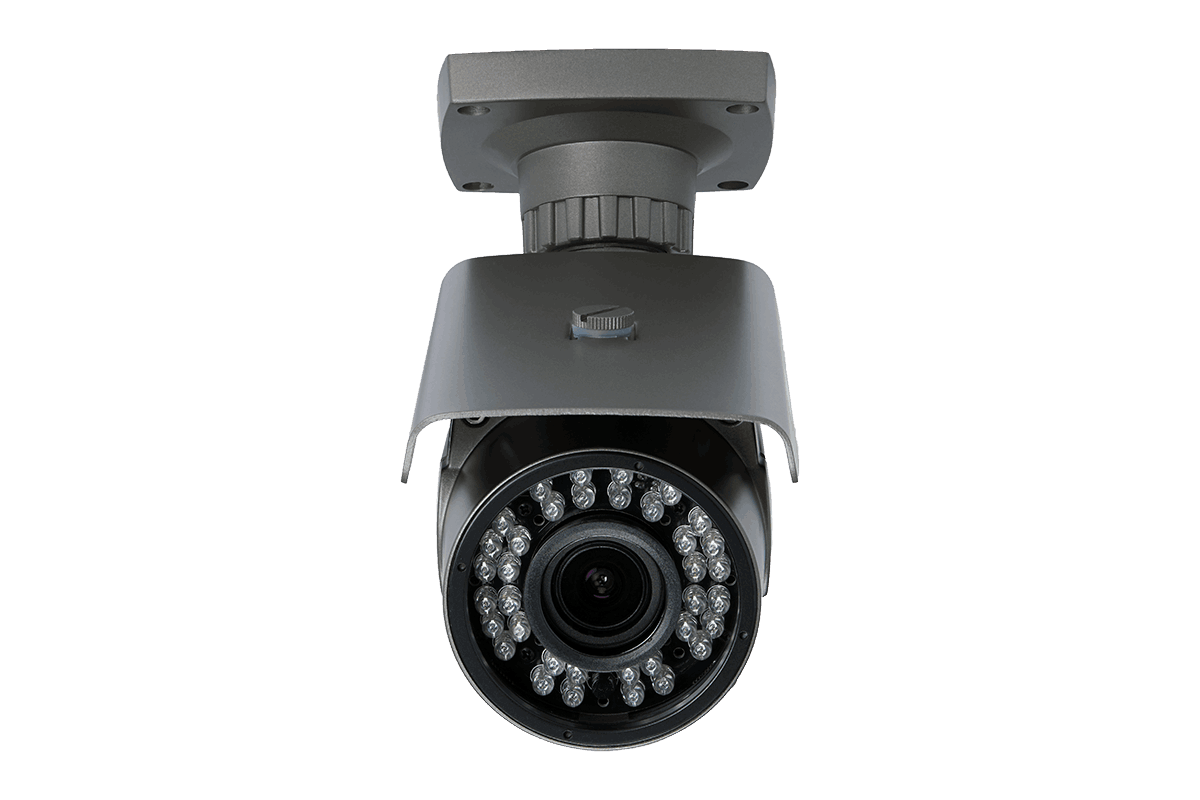 1080p HD home surveillance system with 4 varifocal security cameras