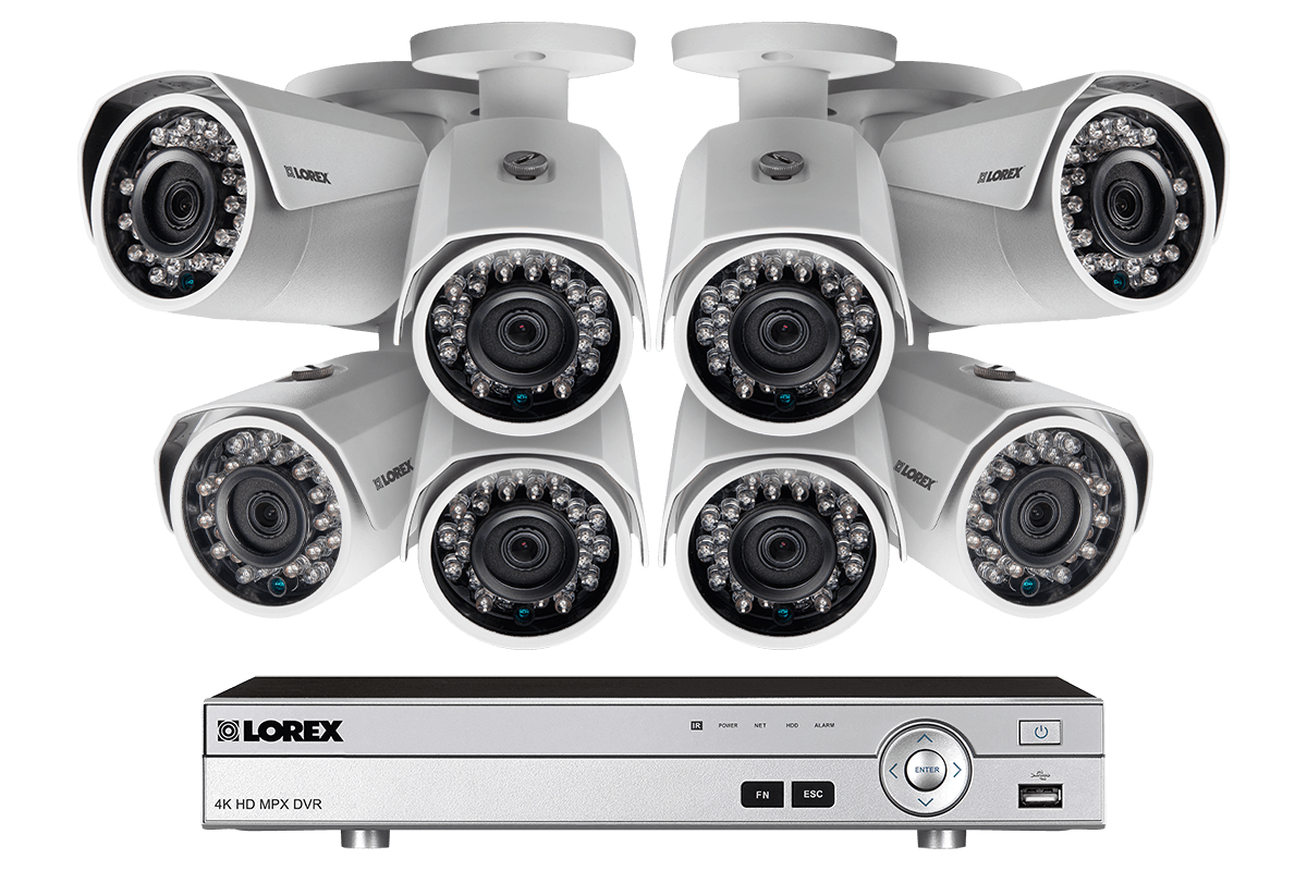 1080p Camera system with 8 channel DVR and 8 1080p metal outdoor cameras 150FT night vision