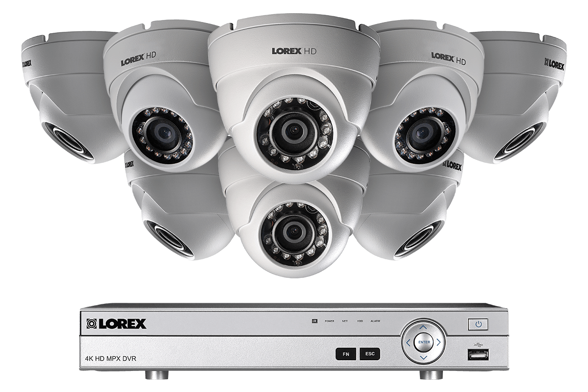 HD 1080p home security system with 8 dome cameras and night vision