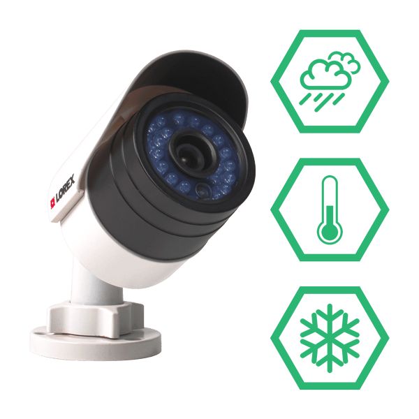 weatherproof & vandal resistant IP security cameras that can take care of themselves