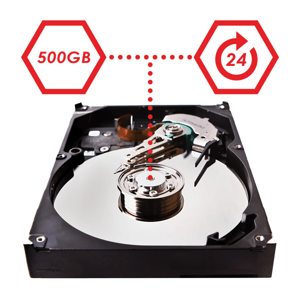 Professional security grade hard drive for security footage