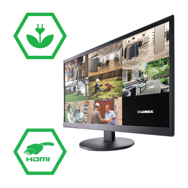 Energy efficient 24 inch LED monitor