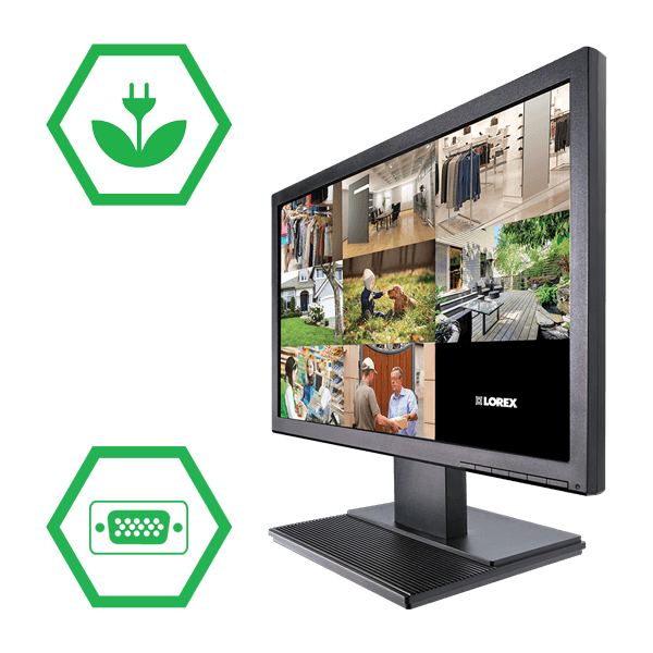 Energy efficient 19 inch LED monitor
