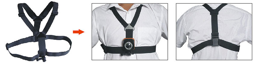 chest mounting strap demonstration