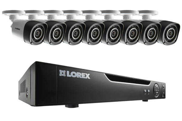 HD security camera system with 8 cameras