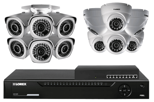 Security camera system with 12 full HD weatherproof cameras
