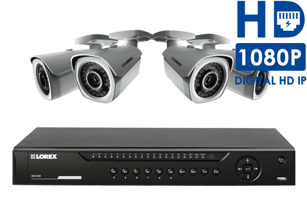 HD NVR Surveillance System with 4 Full 1080p HD Cameras