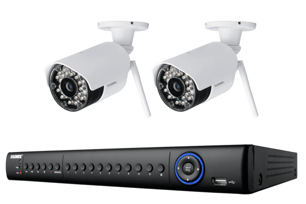 Wireless security camera with 2 cameras